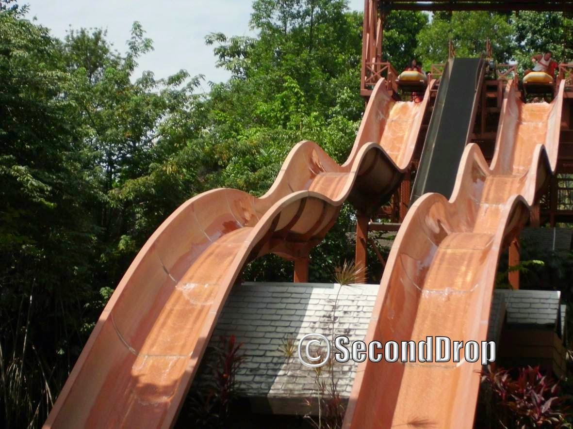 Although this slide is powered by water, you will not get wet